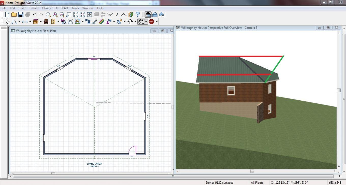 New user, trying to create gambrel roof on six-sided house